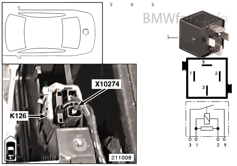 Relay Compressor Air Suspension K126 Bmw X5 E53 X5 3