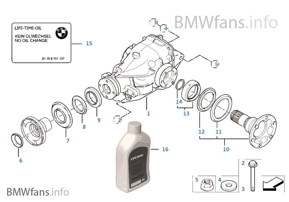 differential drive output bmw x3 e83 x3 2 0d m47n2 europe rh bmwfans info Open Differential Differential Parts