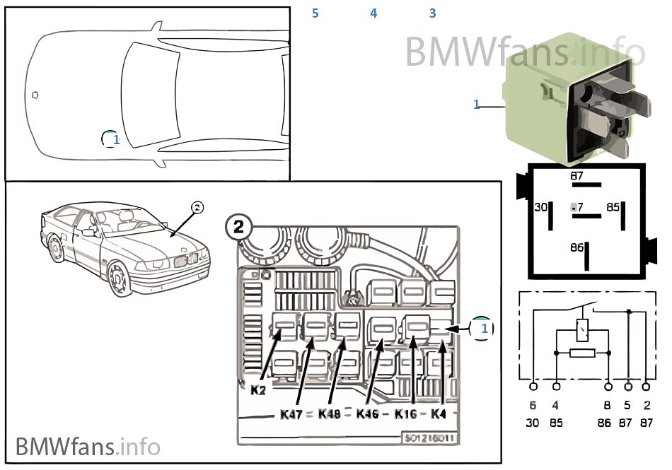 e36 318i fuse box diagram