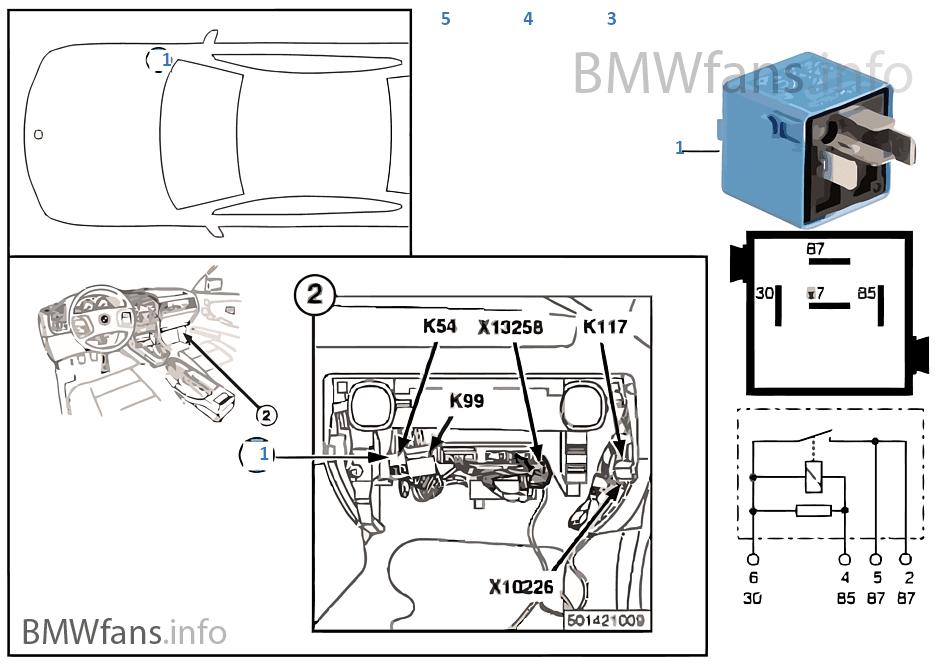 Relay for door lock heater K54  sc 1 st  BMWfans.info & Relay for door lock heater K54 | BMW 3\u0027 E36 316i M40 Europe