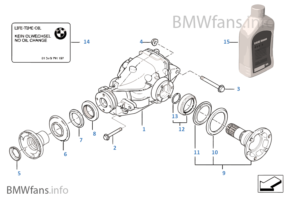differential drive output bmw 3 e46 316i 1 9 m43 europe rh bmwfans info bmw e46 differential diagram bmw e36 differential diagram