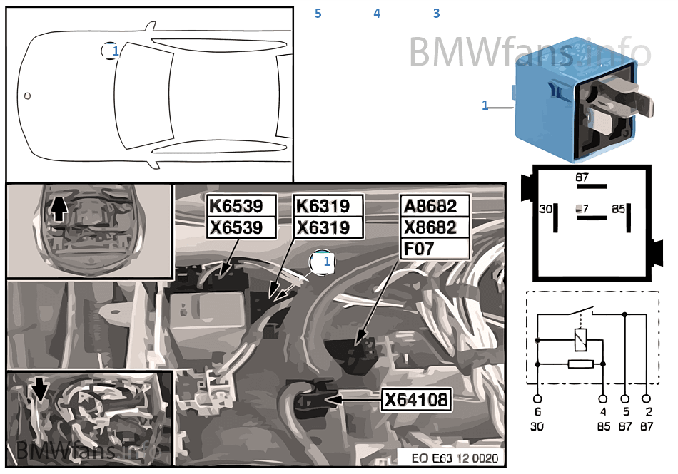 relay for valvetronic k6319 bmw 5 e60 523i n52 malaysia rh bmwfans info BMW Valvetronic Diagram E46 Valvetronic Actuator 2014 BMW 5351