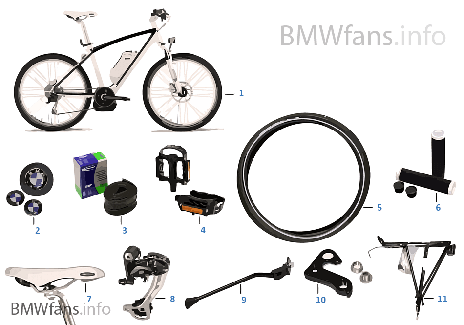 BMW Replacement parts — 'Cruise' e-Bike