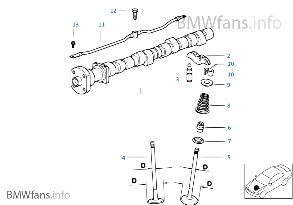 valve timing gear  u2014 cam shaft