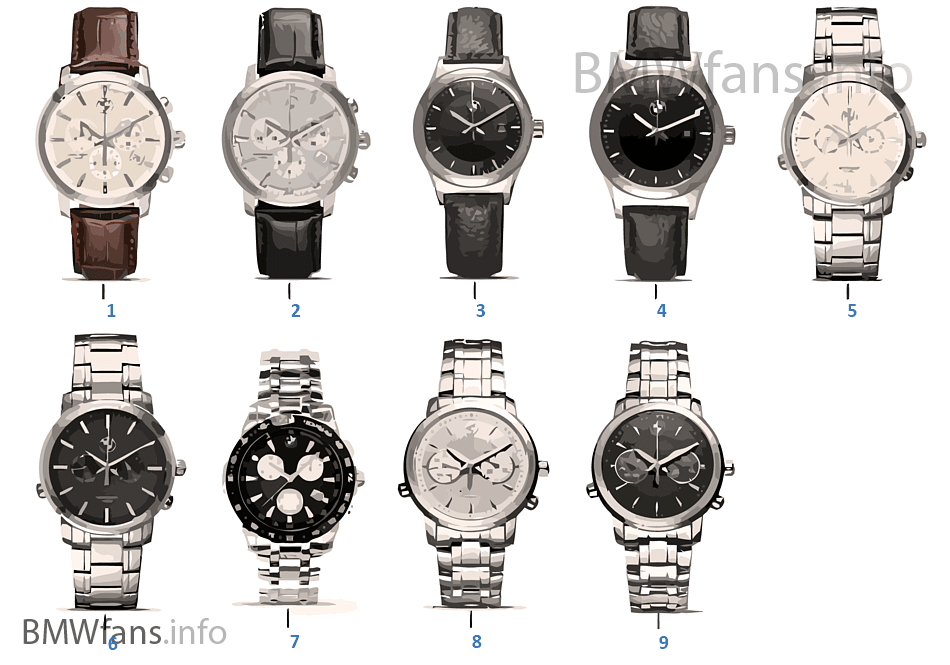 Bmw Collection Horloges 14 16 Bmw Accessories Catalogus