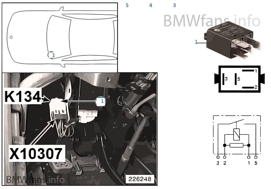 Relay for B-pillar lamps K134 | BMW 7' E38 750i M73 Europe