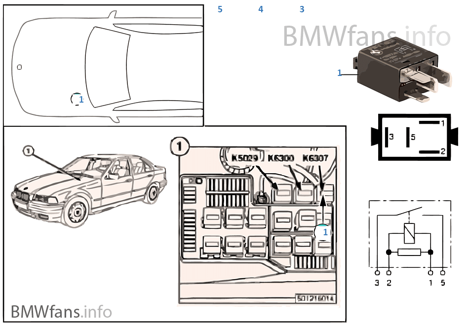 Relay For Start Detection K6307 Bmw 3 E36 318i M43 Europe