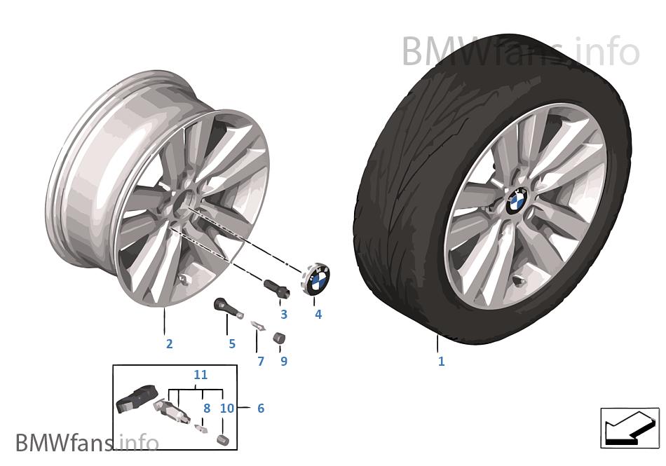 BMW LA wheel Styling 655 -17''