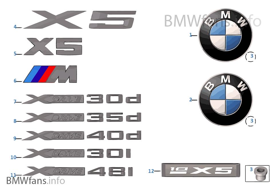 Embleem Sierschrift Bmw X5 E70 X5 M S63 Europa