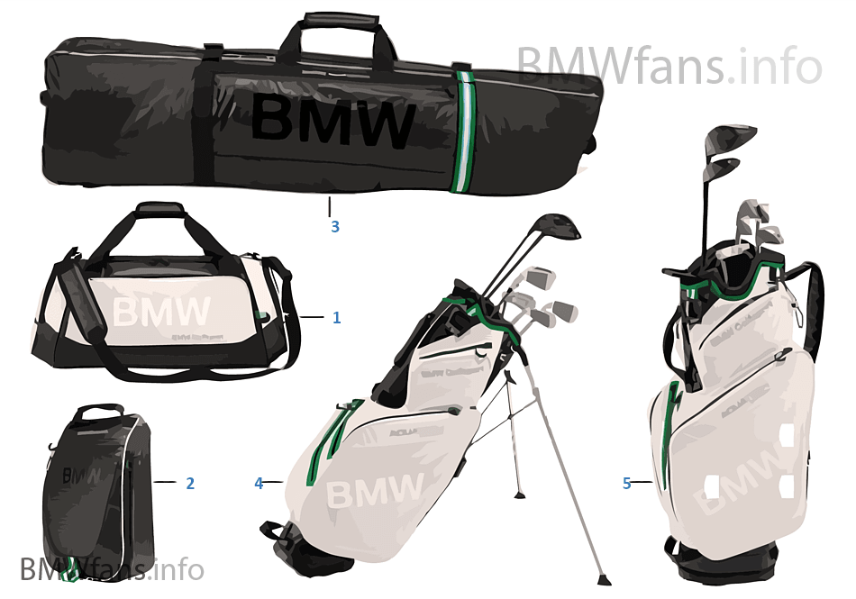Bmw Golfsport Bags 2015 17 Bmw Accessories Catalog