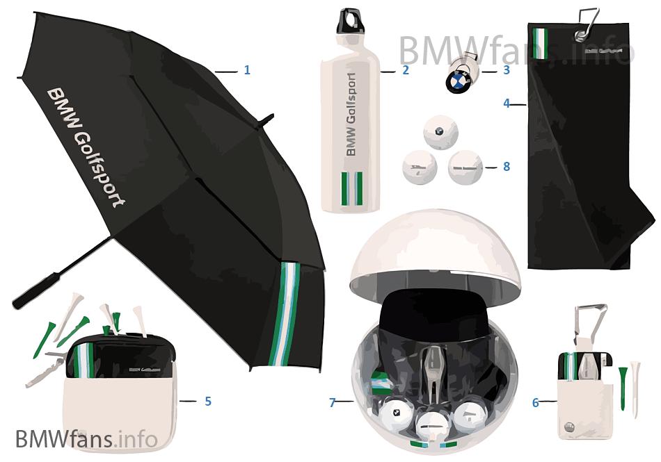 bmw golfsport accessories 2015 17 bmw accessories catalog. Black Bedroom Furniture Sets. Home Design Ideas