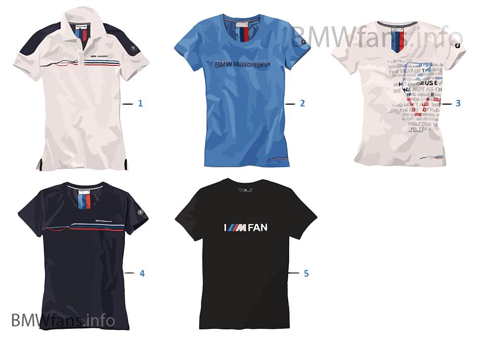 99a5939b03a1bc BMW Motorsport — Damen Shirts 2015/17 | BMW Zubehörkatalog