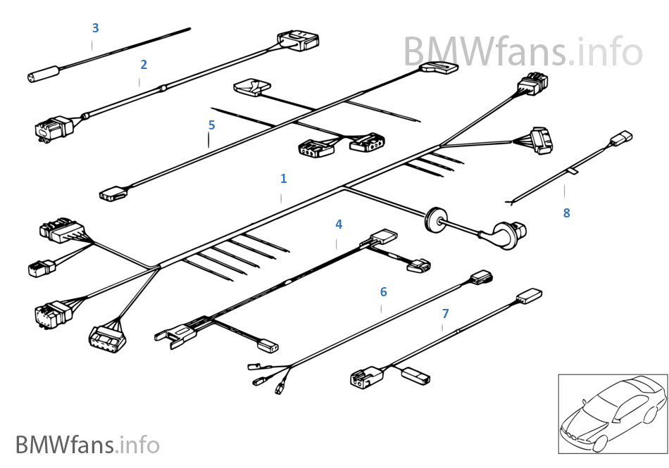 Remarkable Various Additional Wiring Sets Bmw 3 E36 316I M40 Europe Wiring 101 Vieworaxxcnl