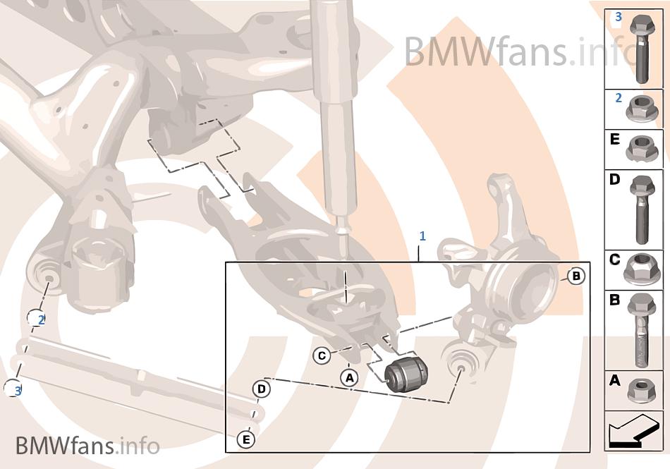 Kit de repara. da articulação esférica