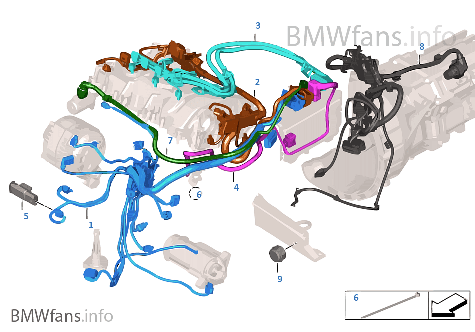 Engine wiring harness | BMW 4' F32 435iX N55 USA on