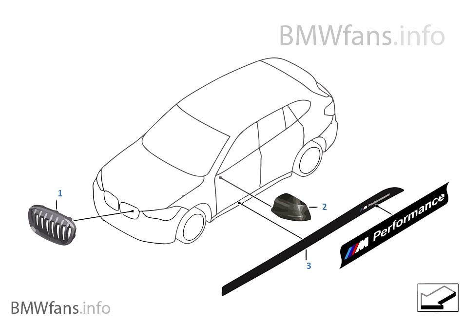 M Performance Accessories   BMW X1 F48 X1 25iX B48 Europe
