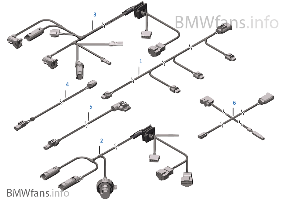 数個の補助ケーブル セット