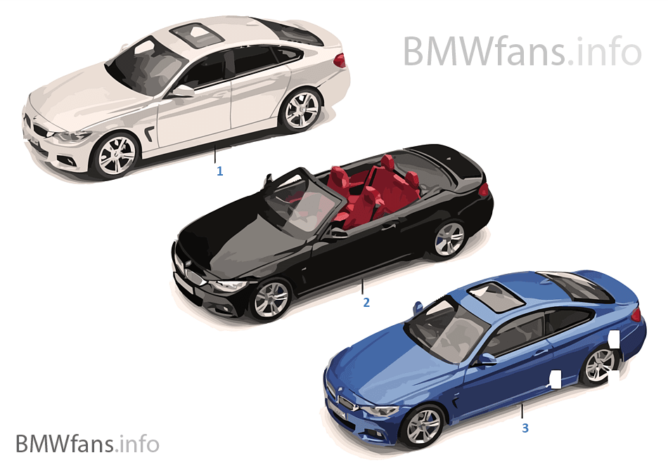 bmw miniatures bmw 4 series 14 16 bmw accessories catalog. Black Bedroom Furniture Sets. Home Design Ideas