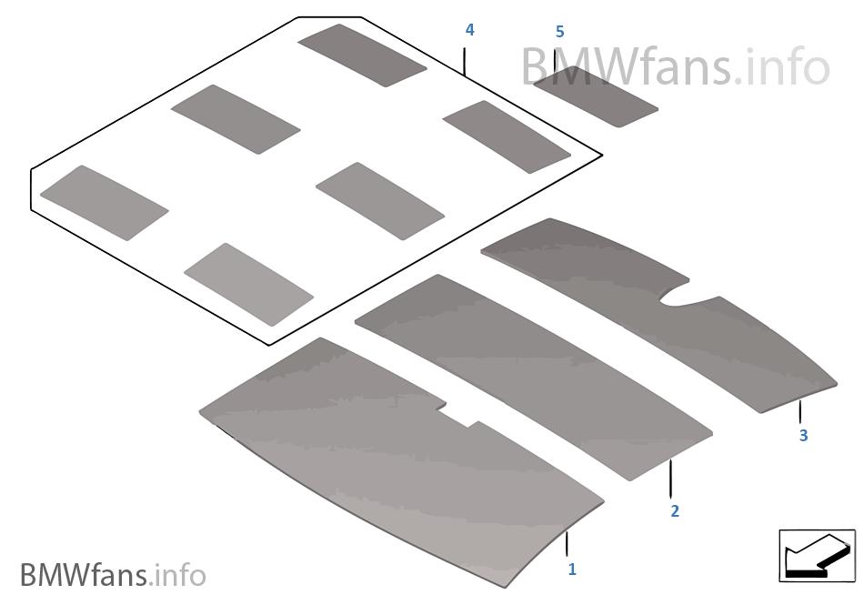 Sound insulation roof | BMW 7' F01 730d N57 Europe