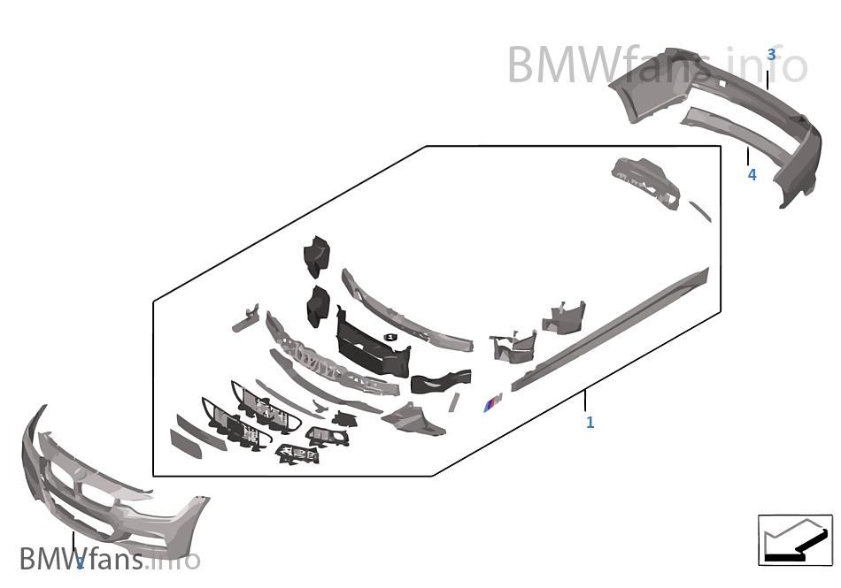 nachr stung m aerodynamikpaket bmw 3 39 f30 335ix n55 europa. Black Bedroom Furniture Sets. Home Design Ideas