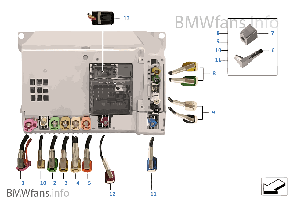 Rep wiring harnsorthead unit high bmw x3 f25 x3 28ix n52n usa wiring harnsorthead unit high sciox Choice Image