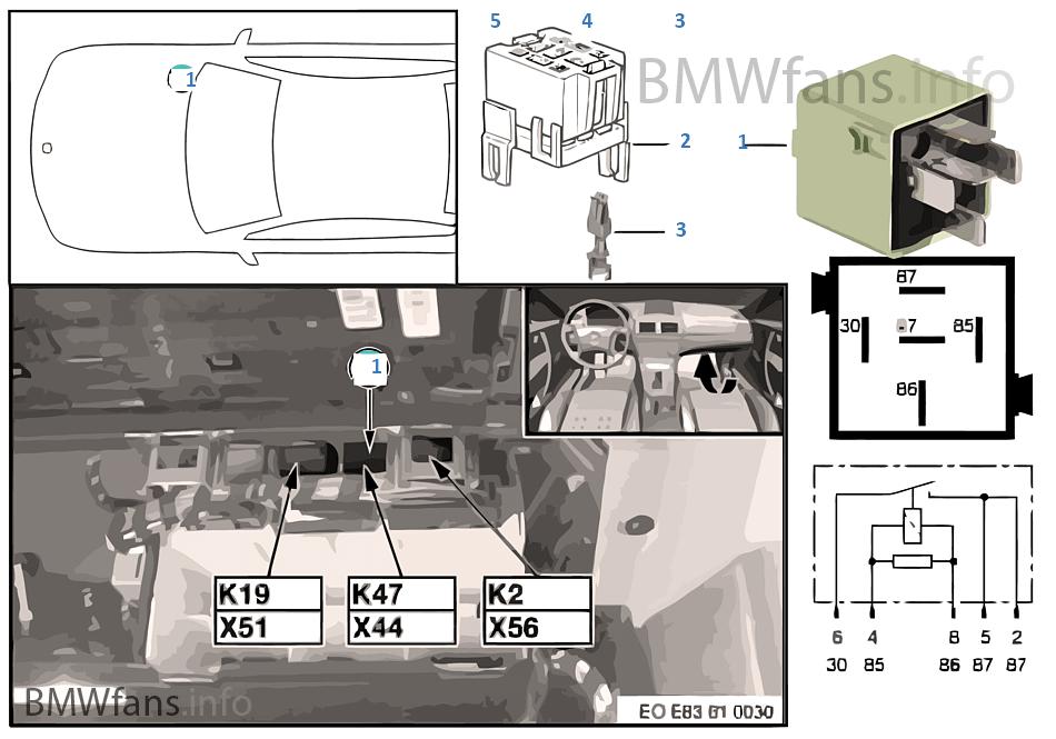 Fahrzeug Elektrik | BMW X3 E83 X3 2.0i N46 Europa