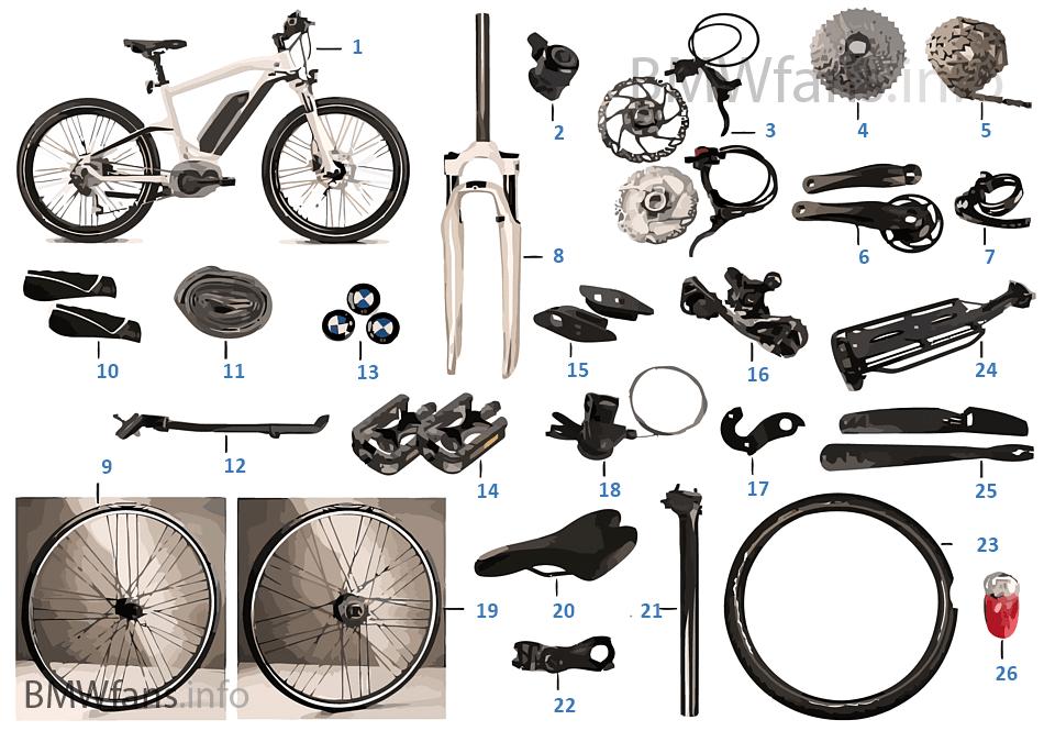 bmw ersatzteile cruise e bike 2014 bmw zubeh rkatalog. Black Bedroom Furniture Sets. Home Design Ideas