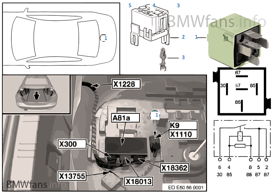bmw e60 relay diagram  bmw  auto parts catalog and diagram