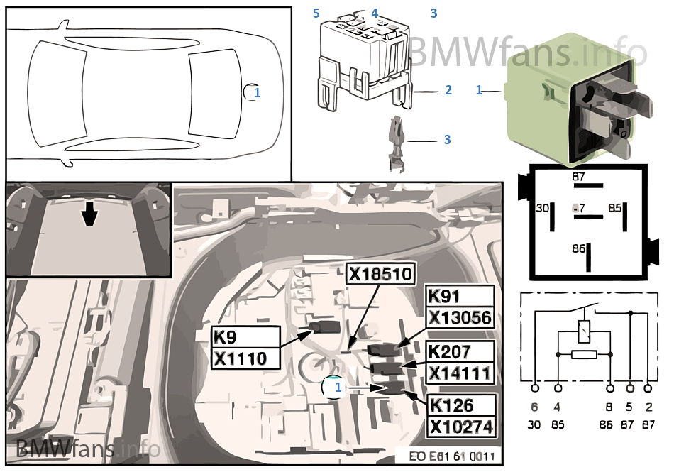 Fahrzeug Elektrik | BMW 5\' E61 530d M57N Europa