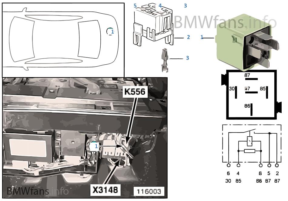 繼電器 擋風玻璃加熱裝置 2 K556