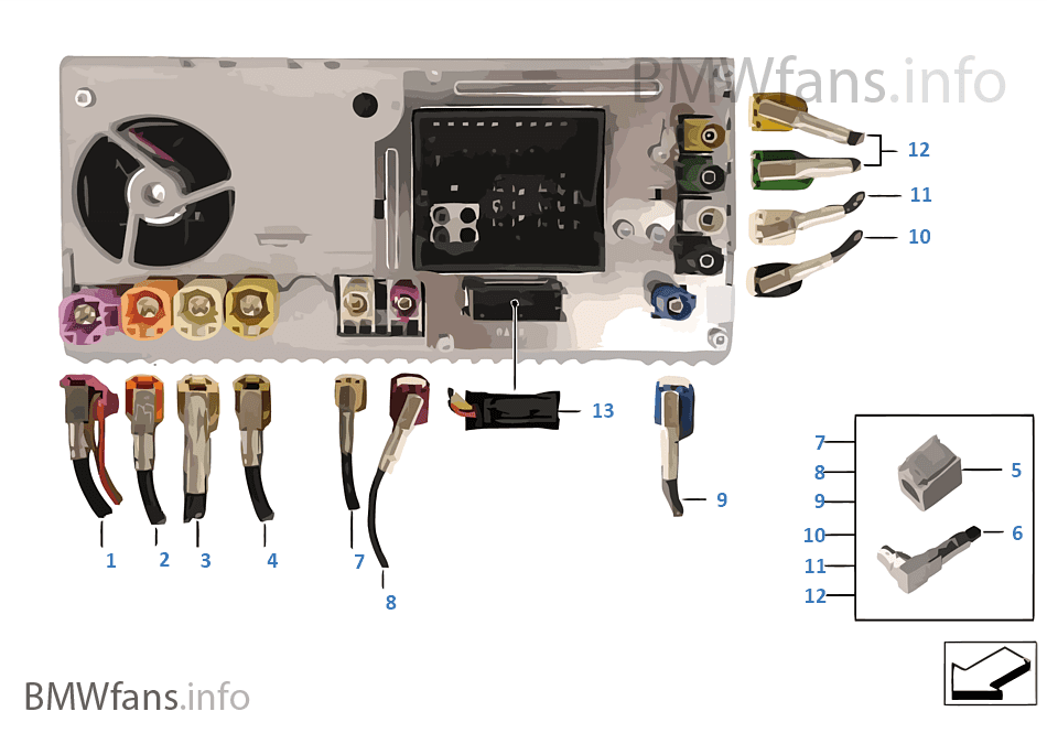 Rep.surtido mazo cables Head Unit High
