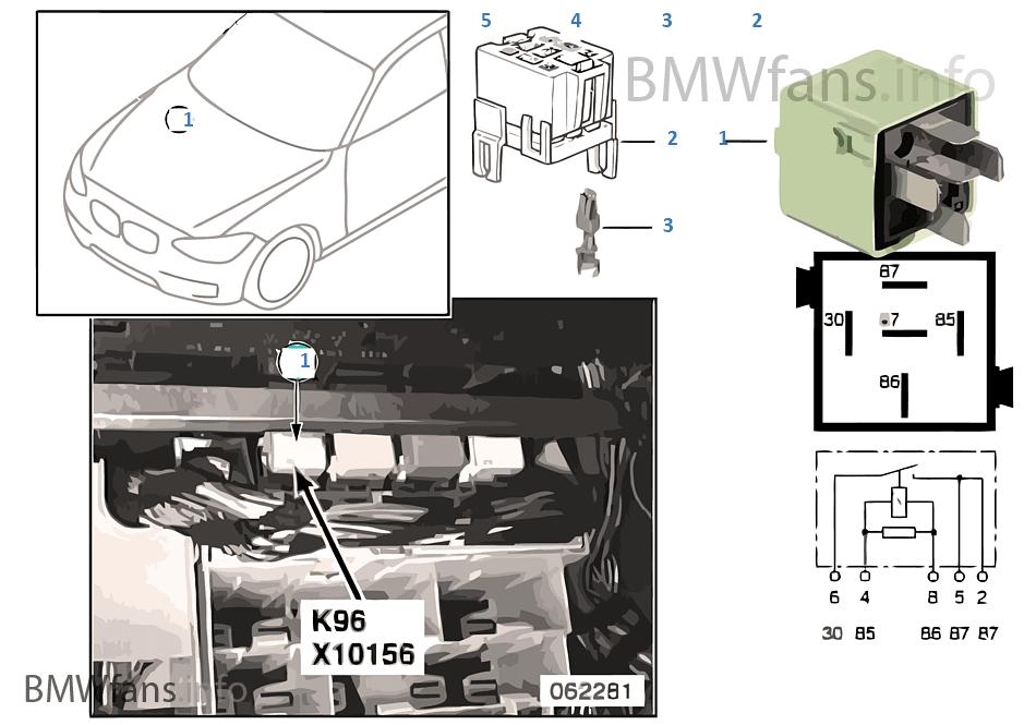 Relais Kraftstoffpumpe 1 K96 Bmw 3 E46 320i M54 Europa