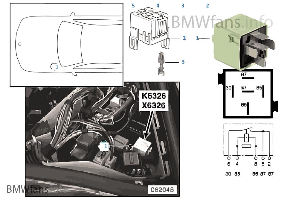 Relé de descarga borne 15 K6326