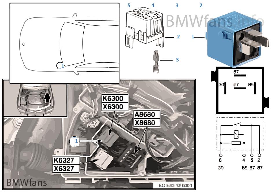 Relais Dme K6300 Bmw X3 E83 X3 3 0i M54 201 Gypte