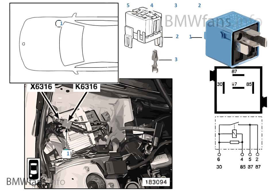 Relé mecanismo válvulas variable K6316