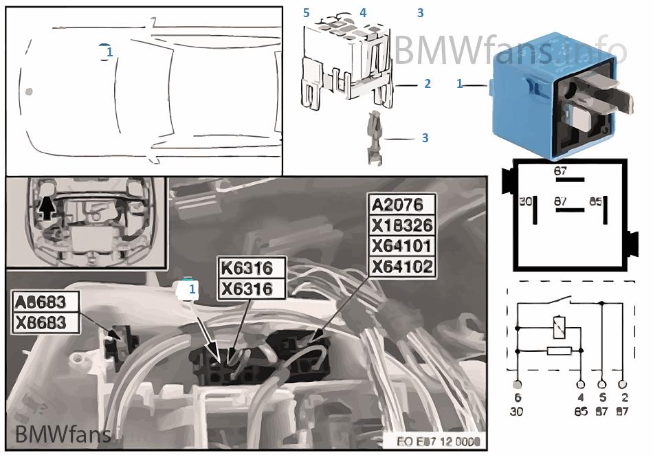 Valvetronic Relay K6316 Bmw 3 E90 320i N46 Europe