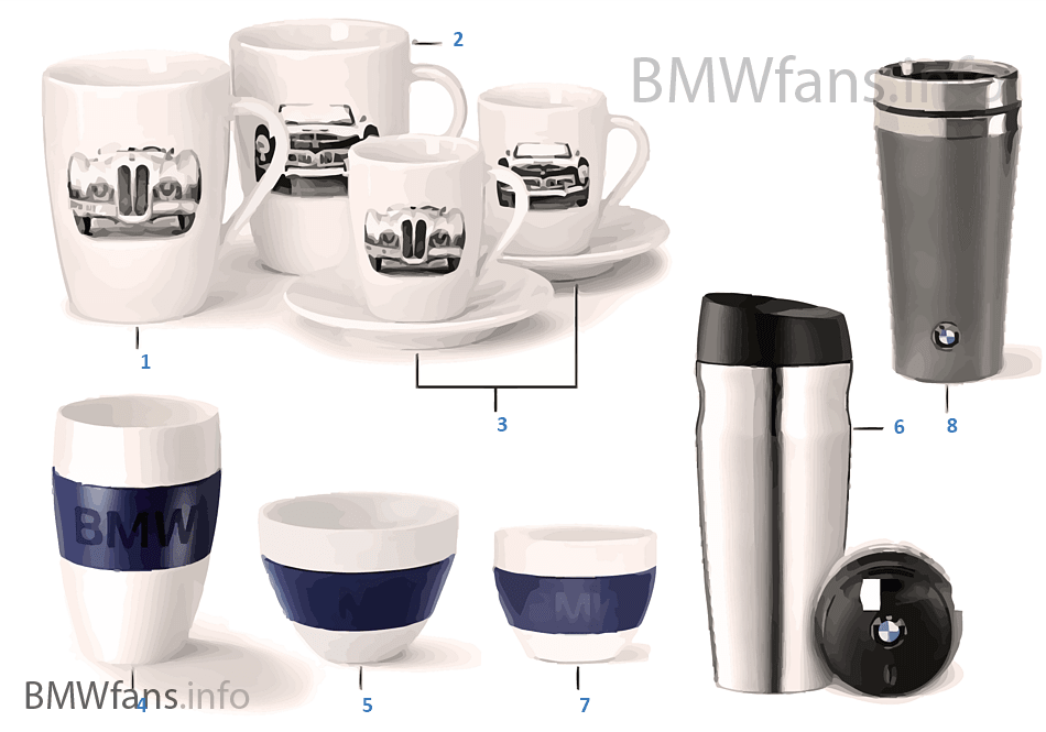 BMW Coll. — Cups/beakers 14-16, 16-18