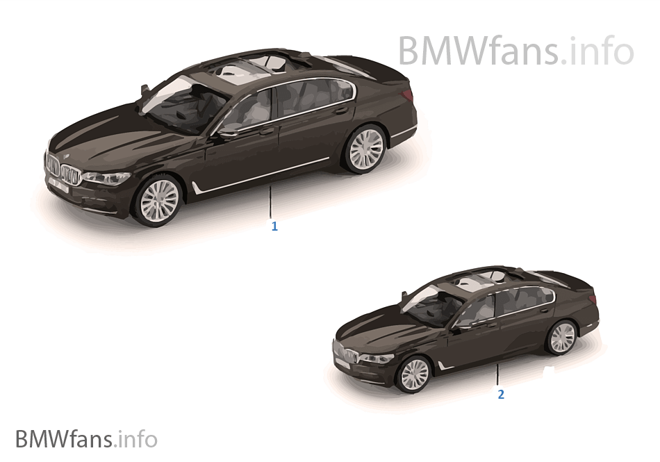 bmw miniaturen 7er serie 16 18 bmw zubeh rkatalog. Black Bedroom Furniture Sets. Home Design Ideas
