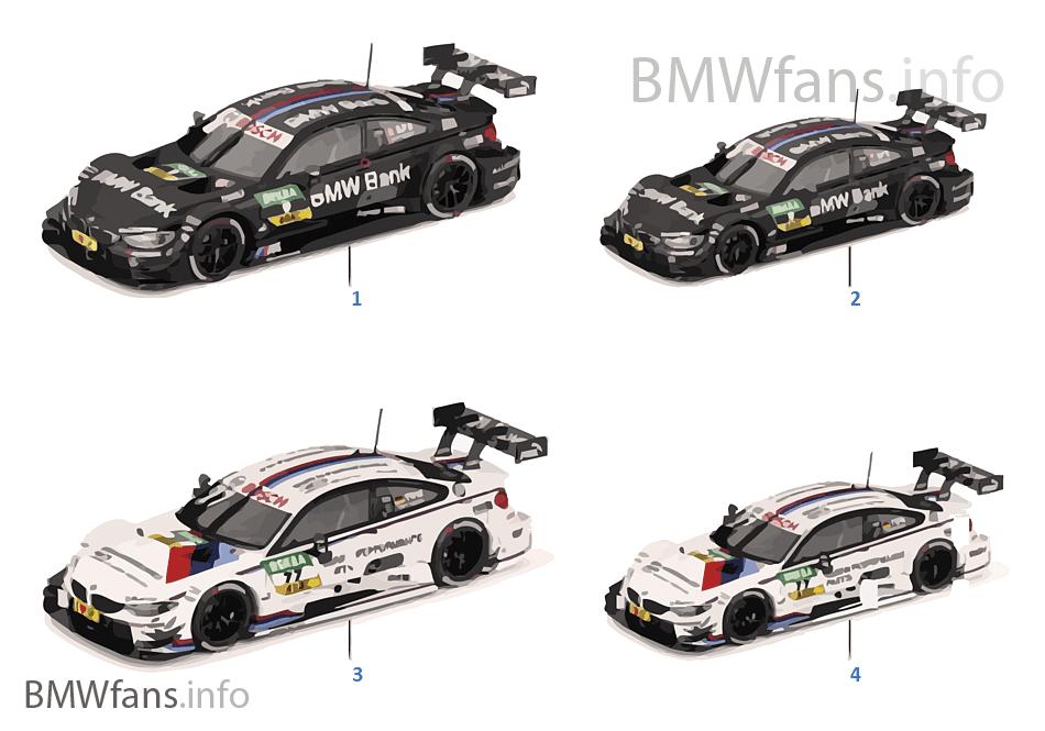 BMW miniatury — M4 DTM 16-18