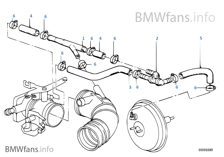 vacuum engine bmw 3 e30 320i m20 europe