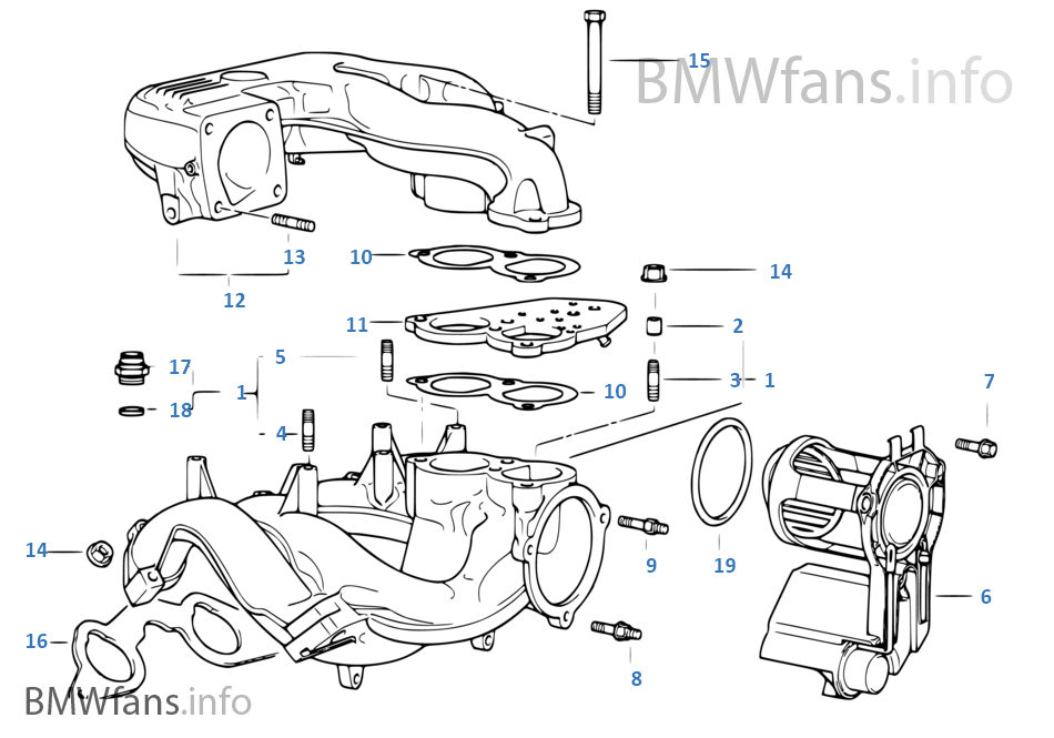 bmw 318ti engine diagram intake intake manifold system | bmw 3' e36 316i 1.6 m43 europe 318ti engine diagram
