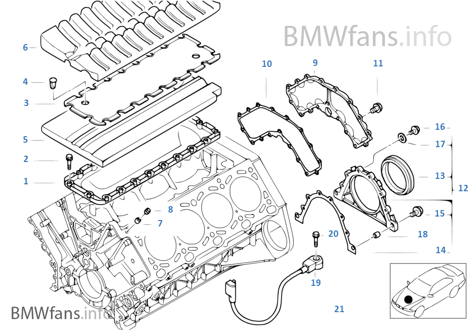1998 bmw 740il parts diagram