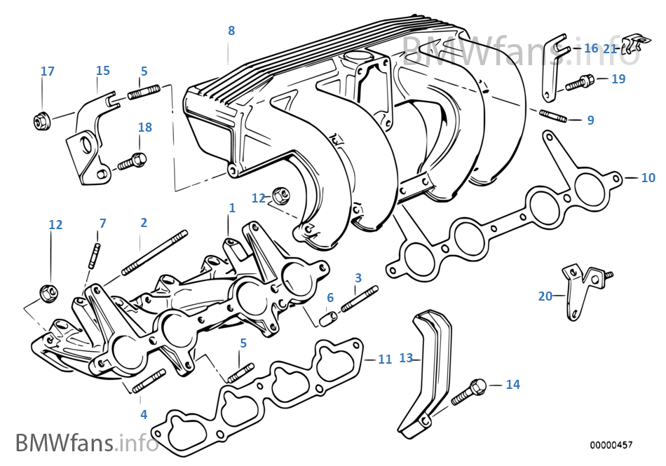 bmw e30 engine diagram intake manifold system | bmw 3' e30 318is m42 europe