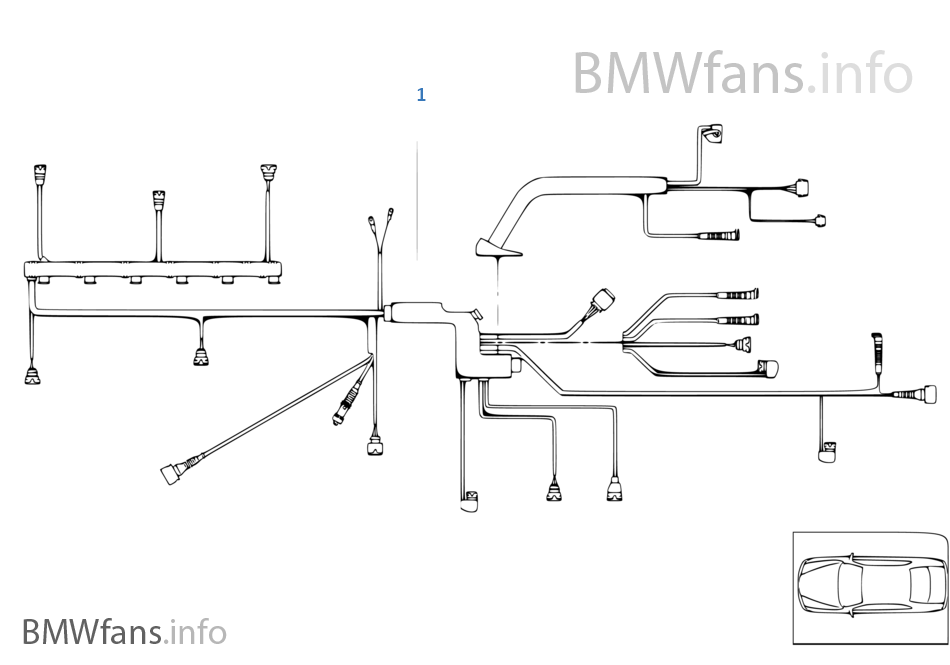 engine wiring harness, engine module bmw 3' e46 m3 csl s54 europe Ford Wiring Harness Diagrams engine wiring harness, engine module
