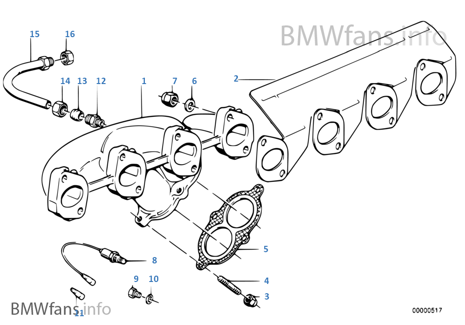 E30 Exhaust Diagram