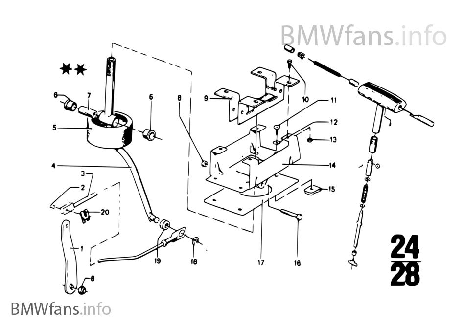 Zf 3hp20 Gear Shift Parking Lock Bmw 2 5cs 3 0csl 3 0cs M30 Usa