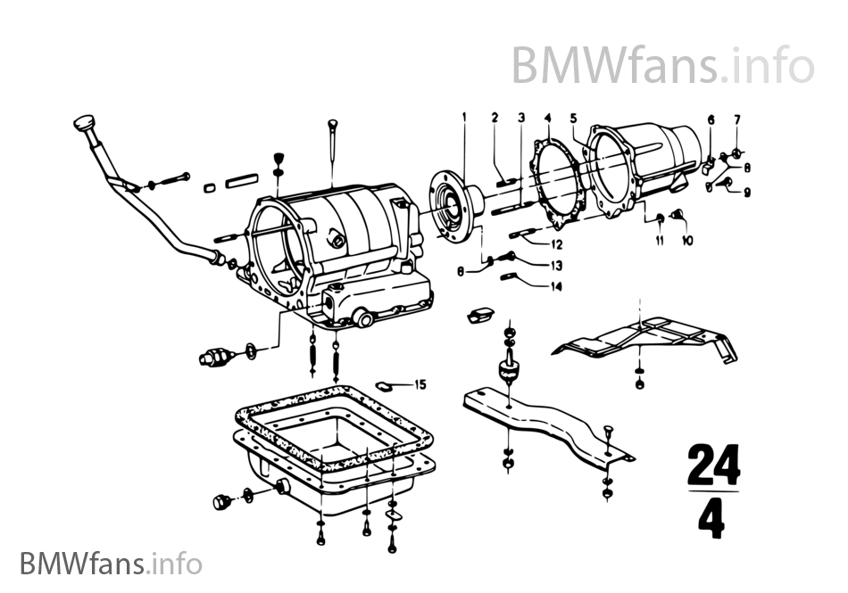 Zf 3hp12 mounting parts/suspension | BMW 1500-2000CS 2000C M10 Europe