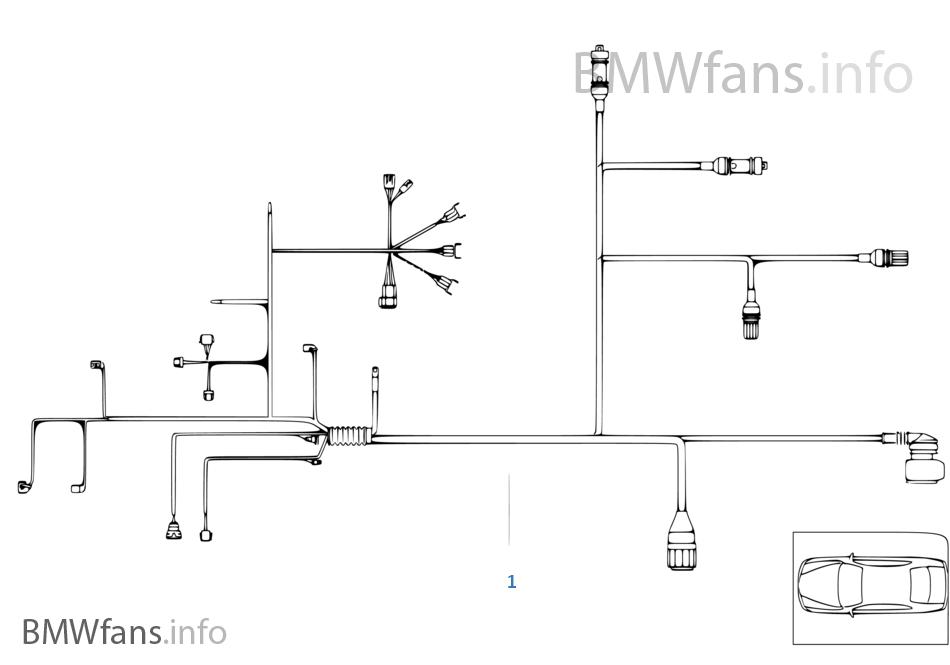 wiring harness engine trans module bmw 3 39 e46 323i m52 usa. Black Bedroom Furniture Sets. Home Design Ideas