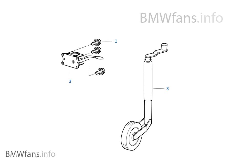 Детали опорного колеса прицепа