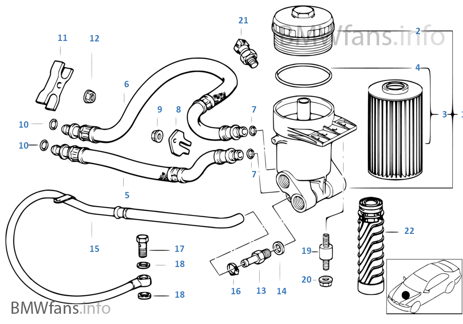 E38 Oil Filter Housing Diagram